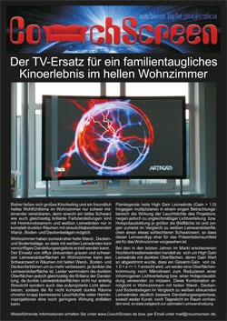 CouchScreen Leinwand Datenblatt