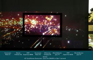 Deutlich kontrastreichere und brillantere Darstellungen im Wohnzimmer sind seit Jahren nur auf CouchScreen Leinwänden erzielbar.
